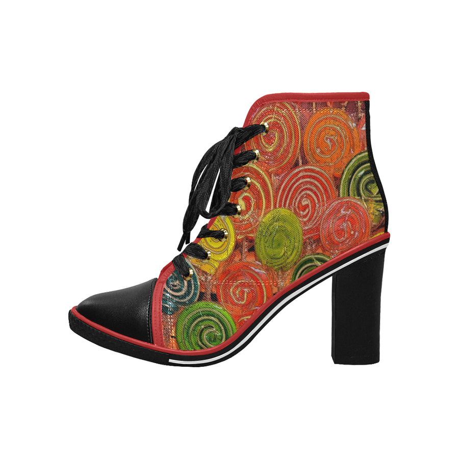LOLLI GANG Chunky Heel Ankle Booties