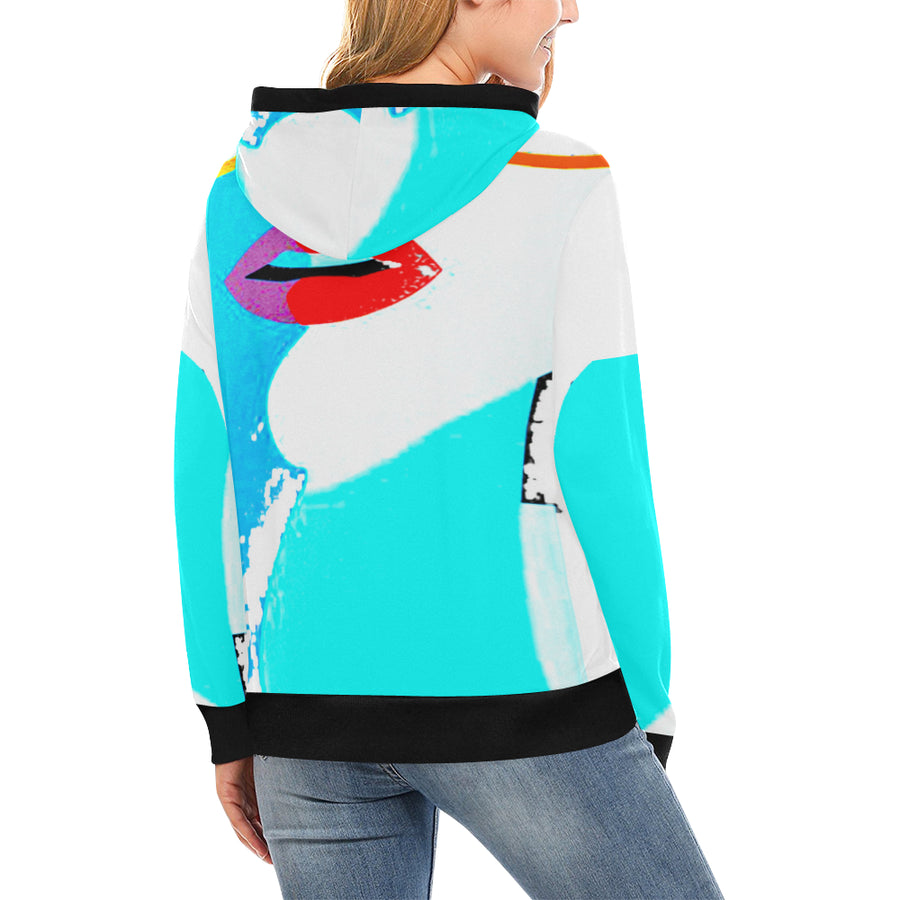 Lolli Gang Turtleneck Hoodie_Kiss Collection (Blue)