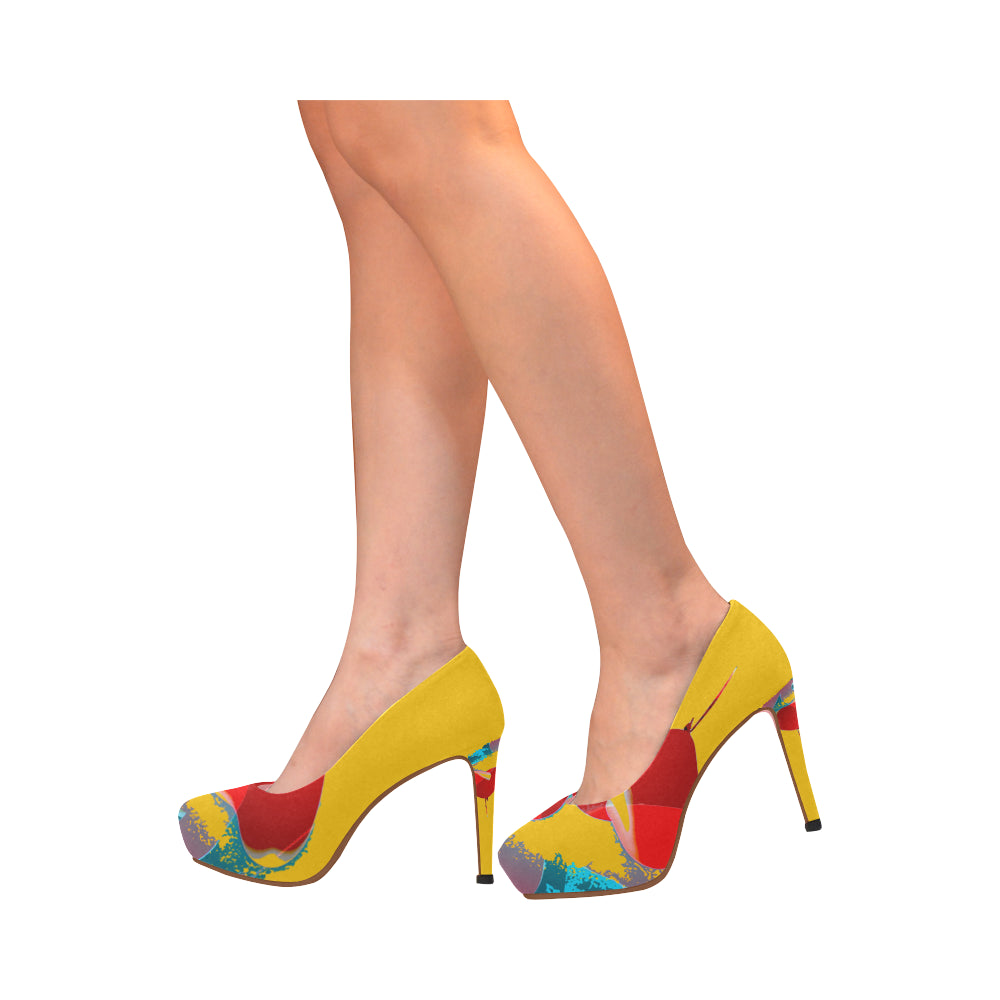 LOLLI GANG High Heel Pumps_Heart Collection (yellow)