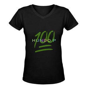 LOLLI GANG HUNDO P v-neck tee_black/green
