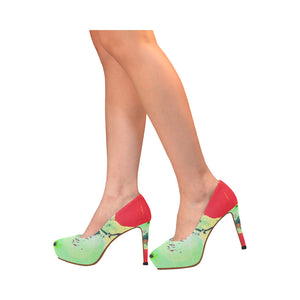 Lolli Gang Abstract Collection high heel pumps