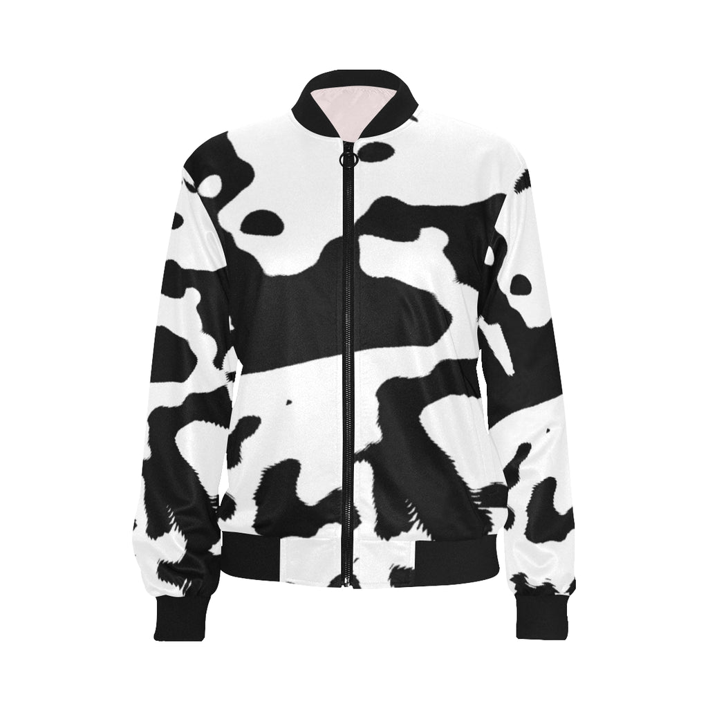 LOLLI GANG Camouflage bomber jacket_white/black