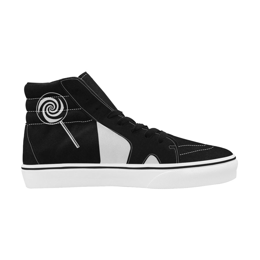 LOLLI GANG Women's High-Top Canvas Sneakers_Tori Collection (white)