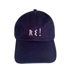 """Re!"" Cap - Navy Blue"