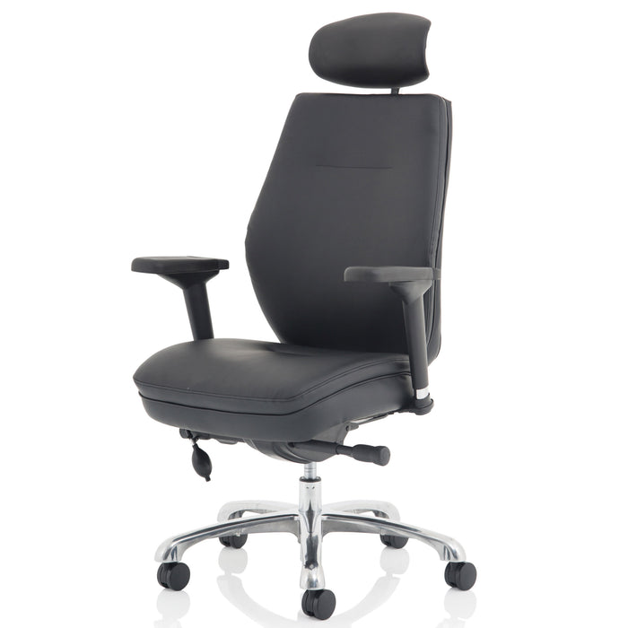 Domino Leather Posture Chair