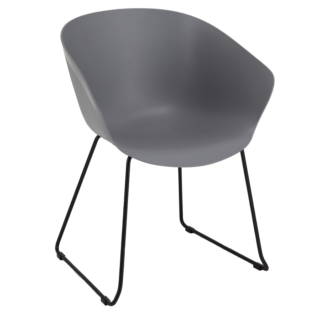 Farringdon Polypropylene/Chrome Skid Base Bistro/Meeting Chairs