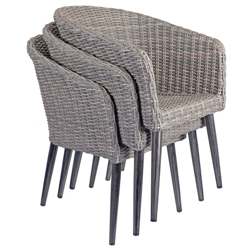 HANOVER GREY WICKER WEAVE TUB CHAIR