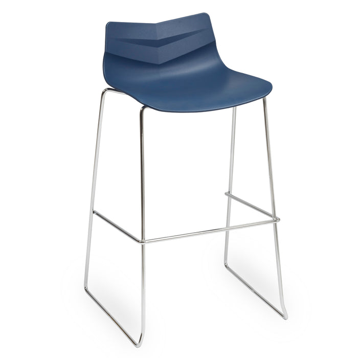 LEAF Polypropylene High Stool Skid Base Bistro/Meeting Chairs