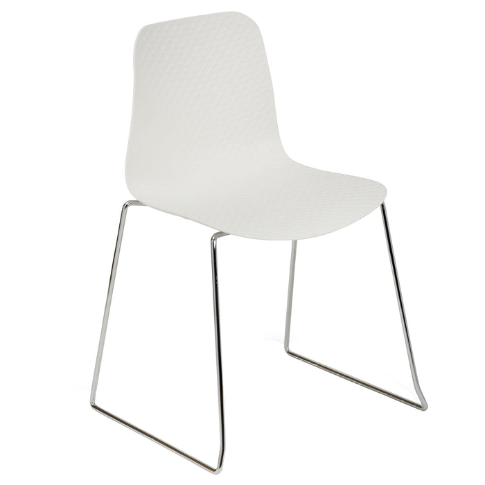 NET Polypropylene Skid Base Bistro/Meeting Chairs