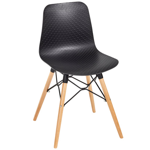 NET Polypropylene Beech Framed Bistro/Meeting Chairs