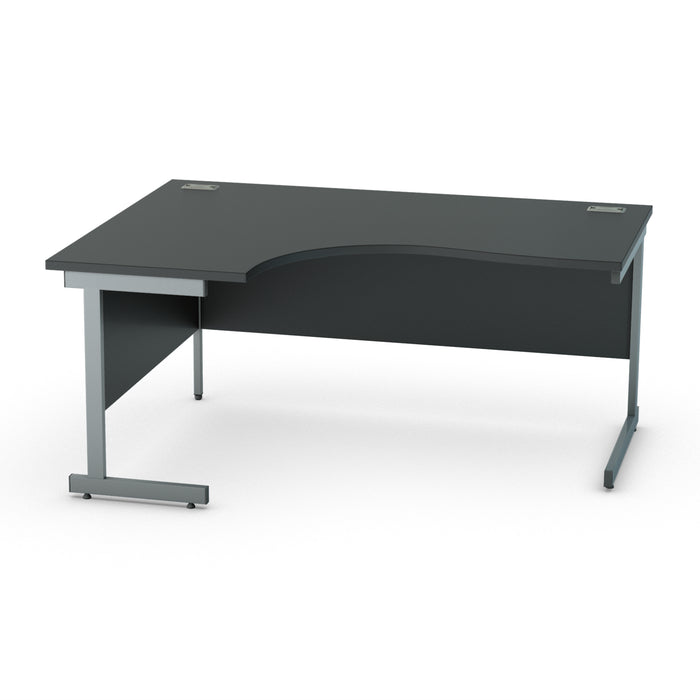 Black Cantilever legged Crescent desks