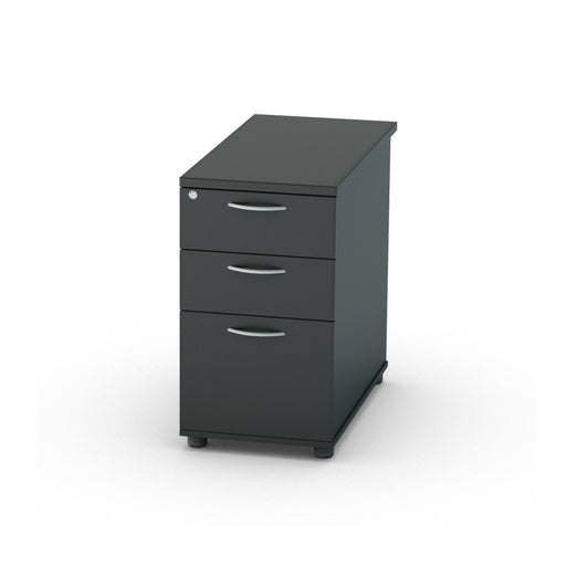Black Desk High Pedestals