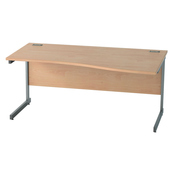 Cantilever legged Wave desks