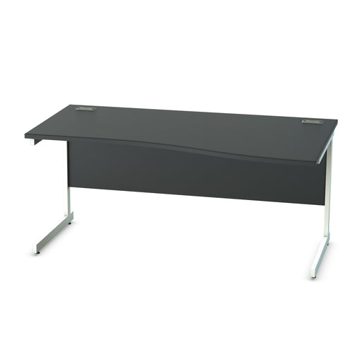Black Cantilever legged Wave desks