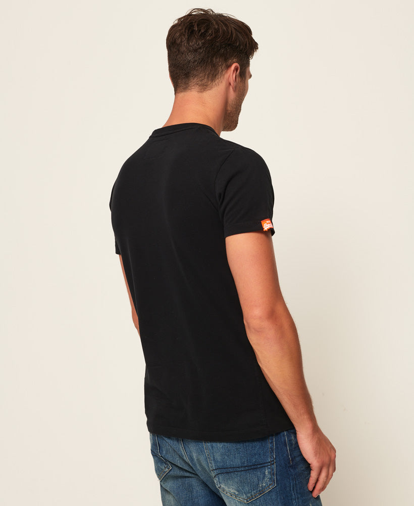 Orange Label Vintage Embroidery T-Shirt - Black