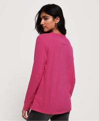 Aida Long Sleeve Top - Pink