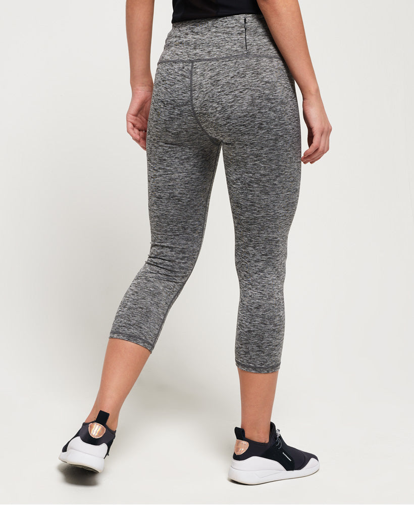 SD Core Sport Essential Capri Leggings - Light Grey