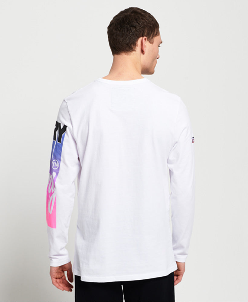 Ticket Type Infill Ls Tee - White
