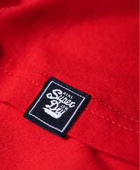 V Logo Code Shimmer Entry Tee - Red