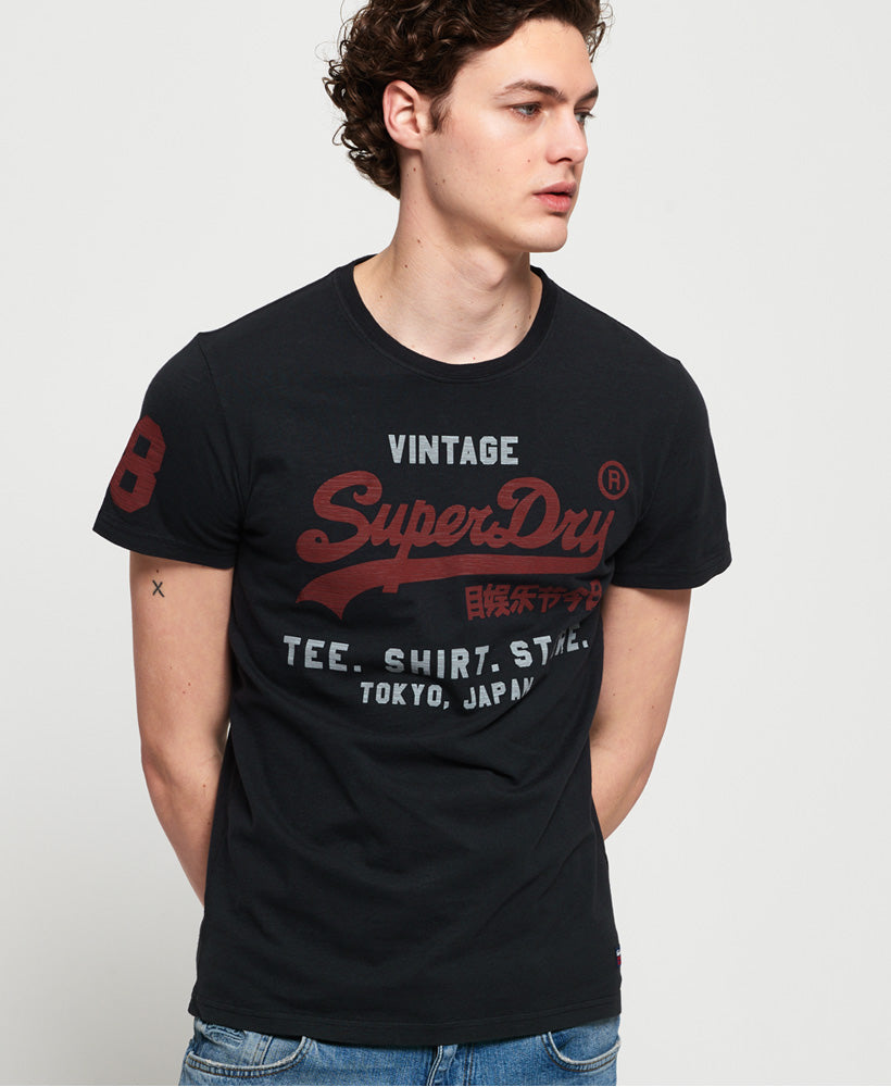 Shirt Shop Duo Mid Tee - Black - Superdry Malaysia