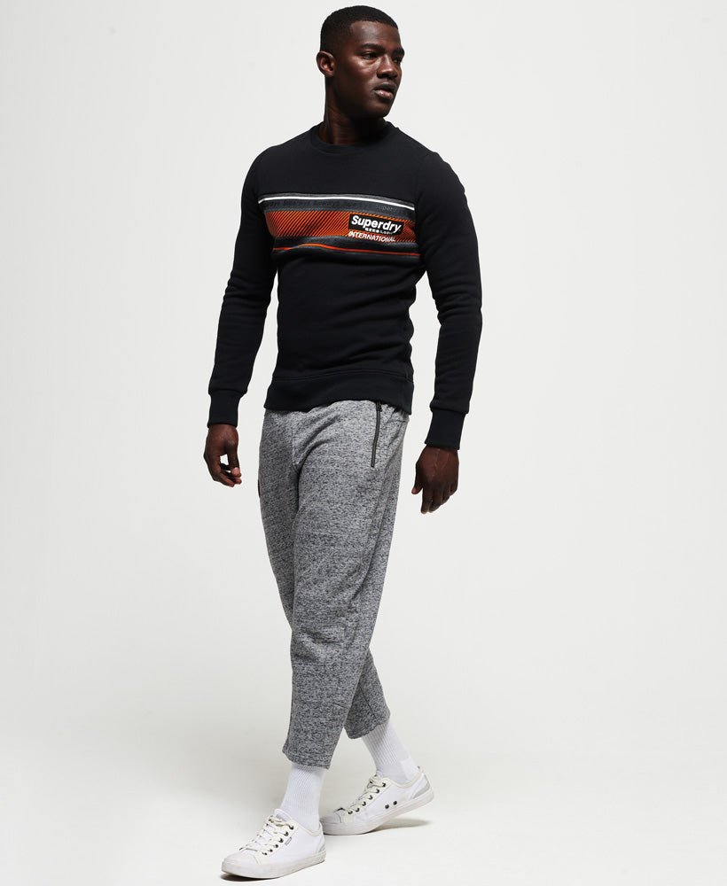 Retro Stripe Crew Sweatshirt - Black