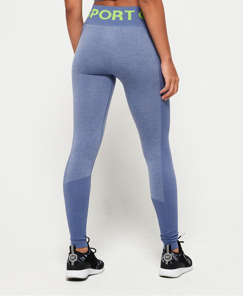 Active Seamless Leggings - Blue
