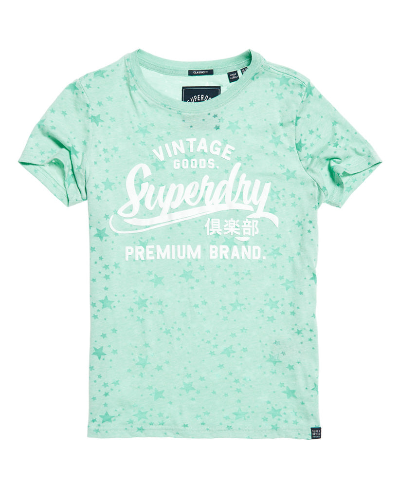 Vintage Goods Star Aop Entry Tee - Turquoise