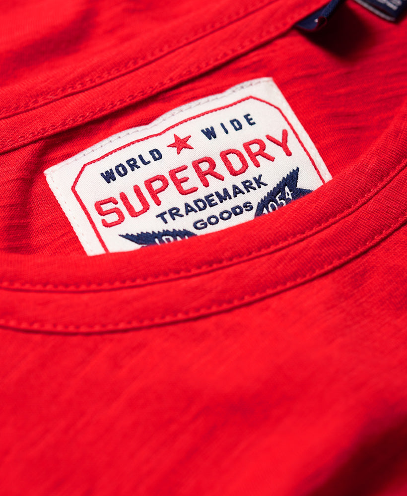 Vintage Text Graphic Tee - Red - Superdry Malaysia