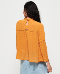 Taylor Broderie Top - Yellow