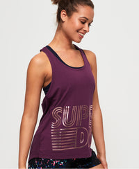 Flash Sport Racer Vest - Purple - Superdry Malaysia