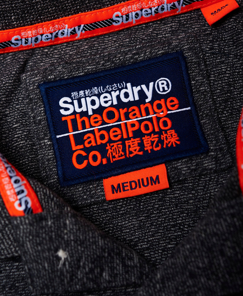 Orange Label Jersey Ss Polo - Black