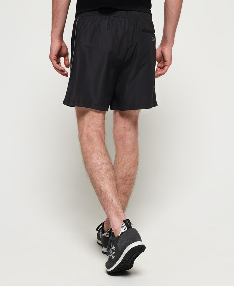 Active Logo Taped Shorts - Black