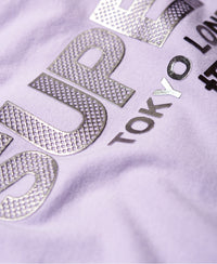 City Nights Boxy Tee - Purple