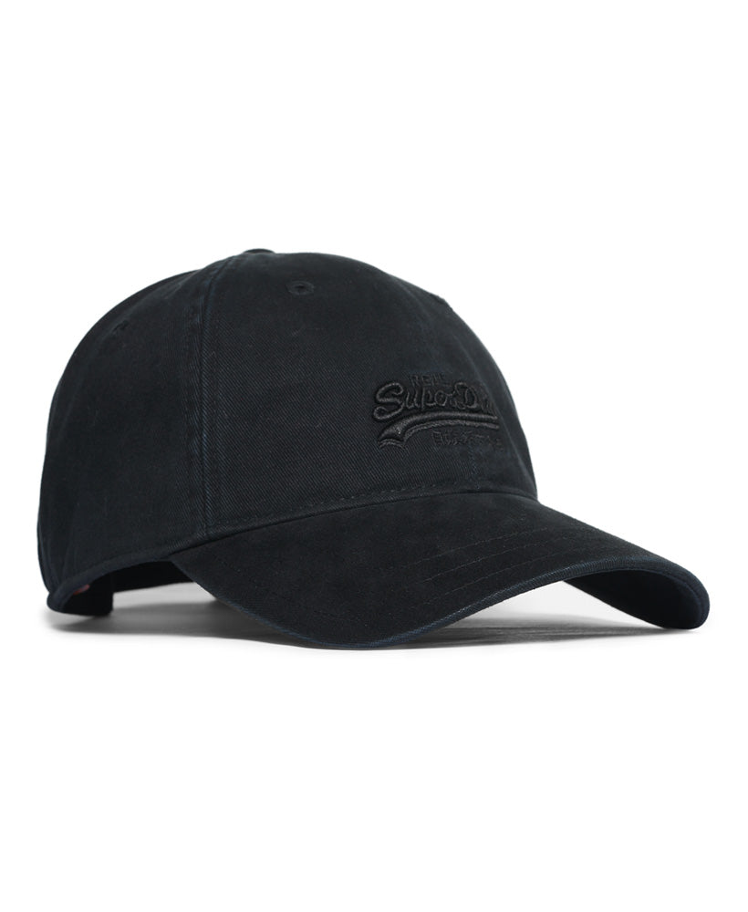 Orange Label Twill Cap - Black