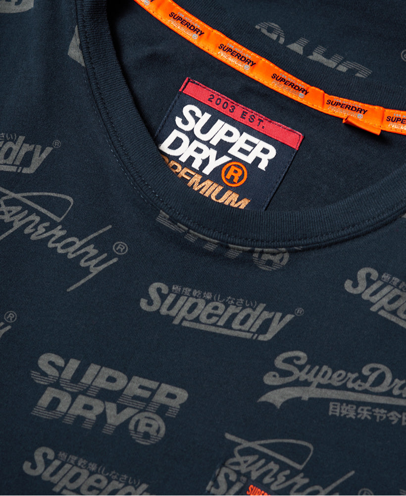 Aop Lite New House Rules Tee - Navy - Superdry Malaysia