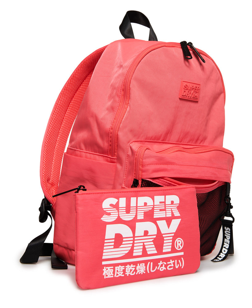 Mesh Pocket Backpack and Pencil Case - Coral - Superdry Malaysia