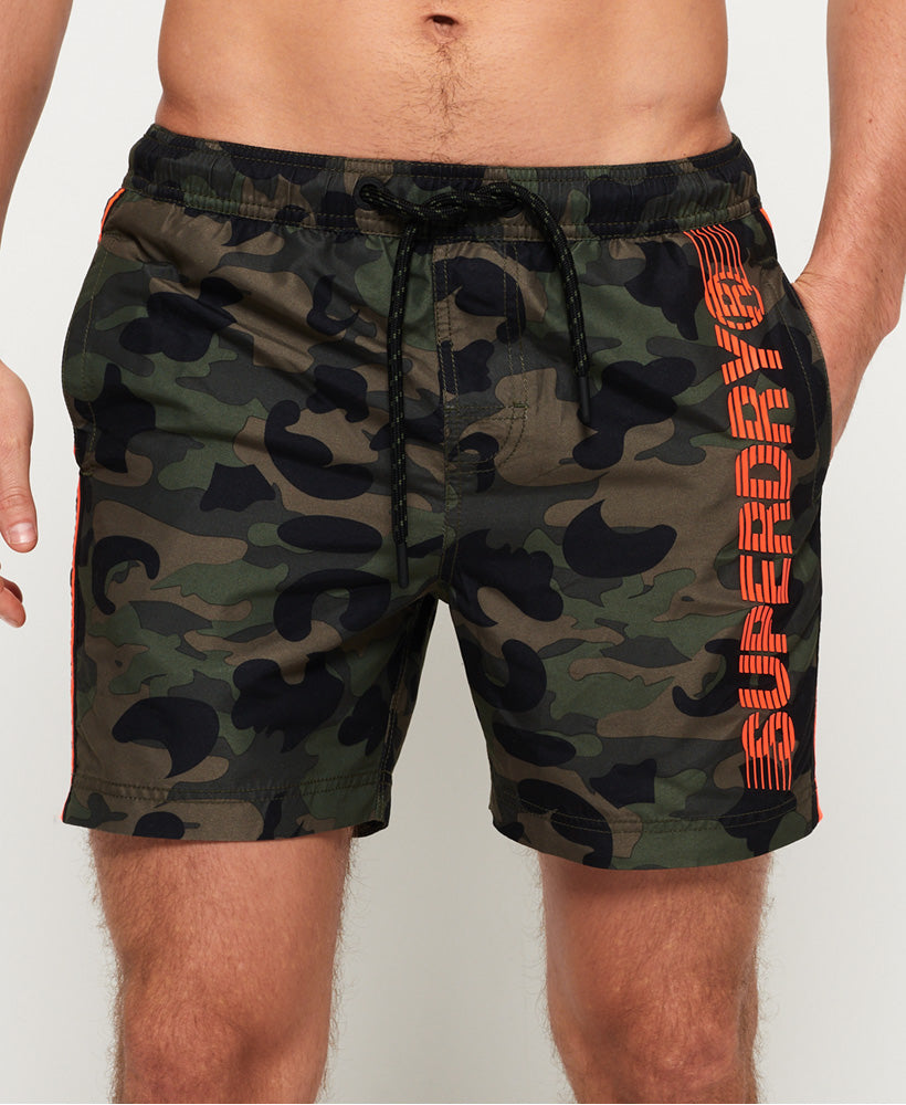 Superdry State Volley Swim Short - Green - Superdry Malaysia