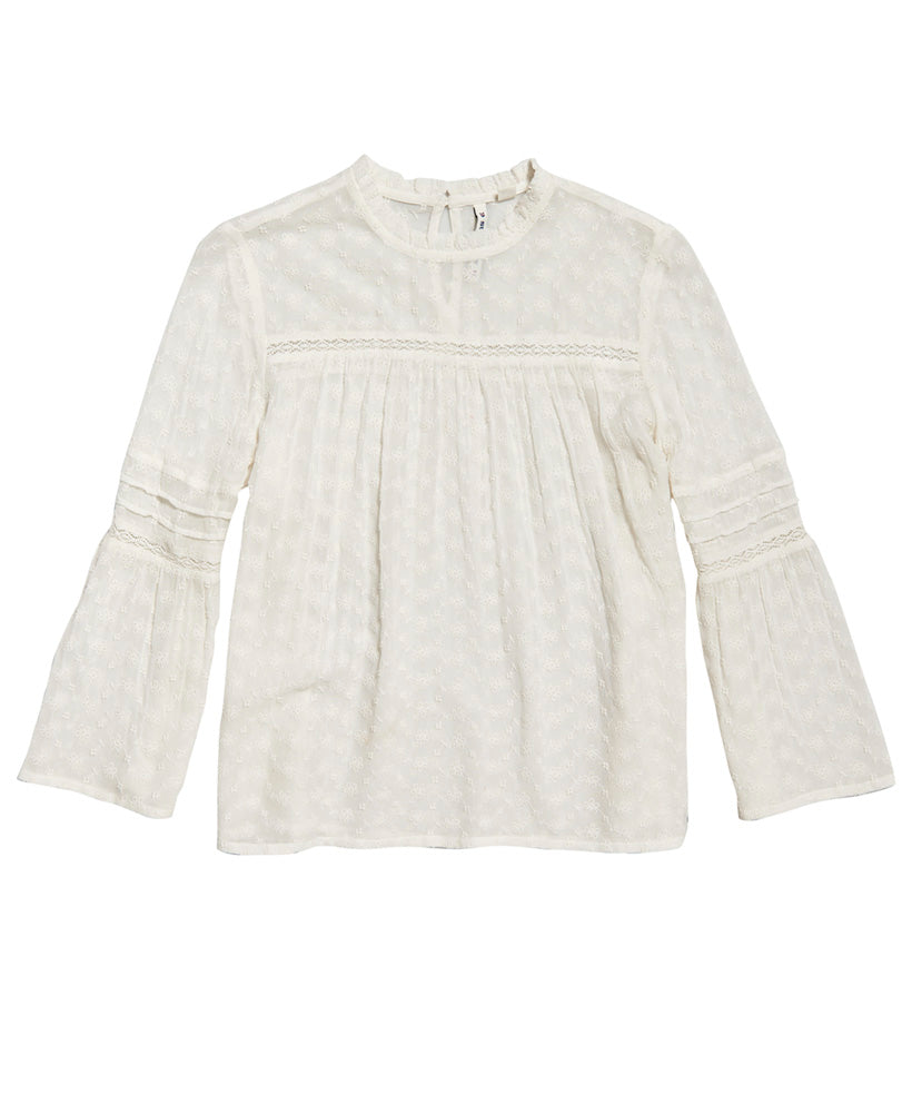 Taylor Broderie Top - Cream