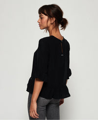 Jayna Ruffle Top - Black