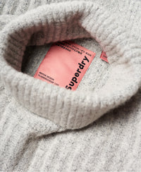 Dahlia Roll Neck Jumper - Light Grey - Superdry Malaysia