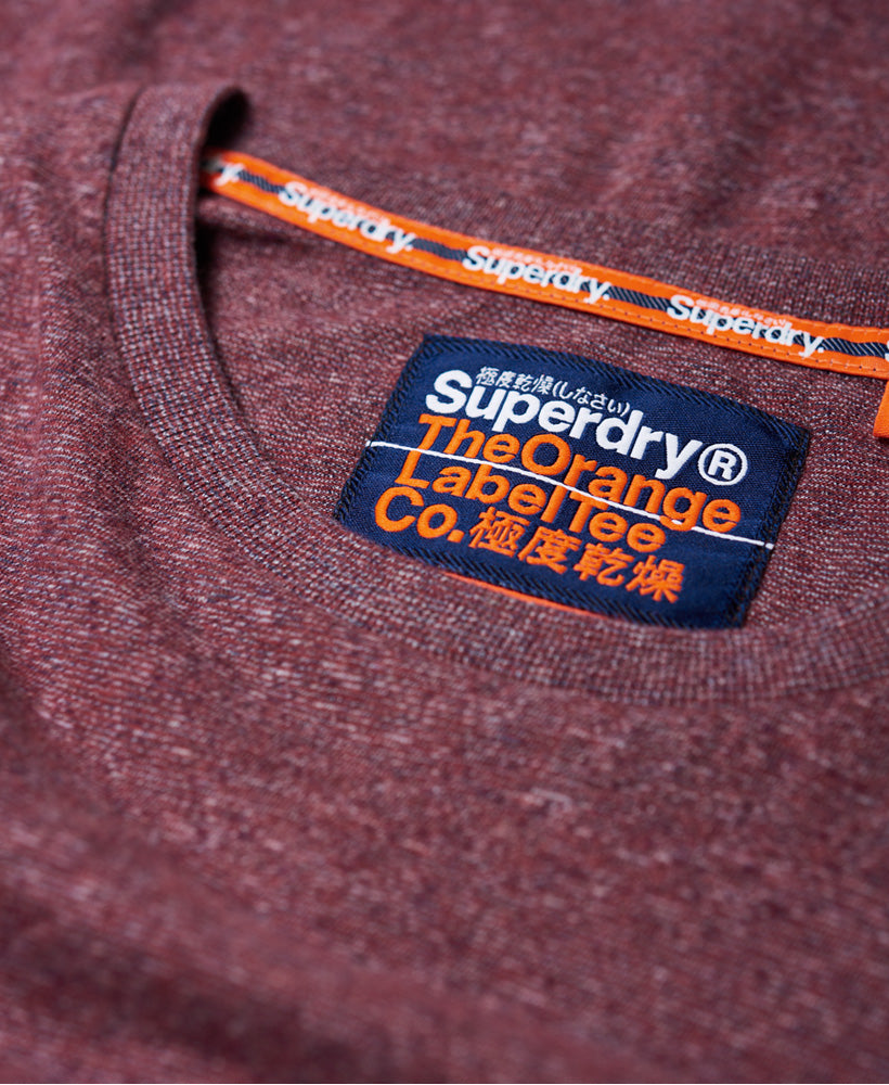 Orange Label Vintage Embroidery Tee - Red