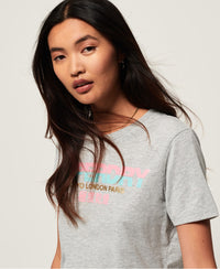 City Nights Splice Entry Tee - Light Grey - Superdry Malaysia