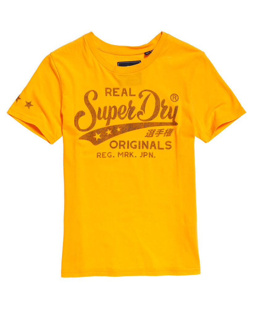 Real Originals Mock Denim Entry Tee - Yellow