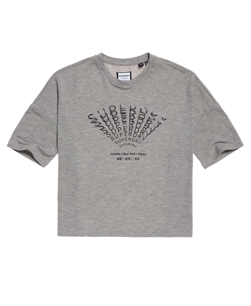 Foil Graphic Tee - Light Grey