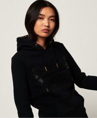 V Logo Premium Icon Entry Hood - Black