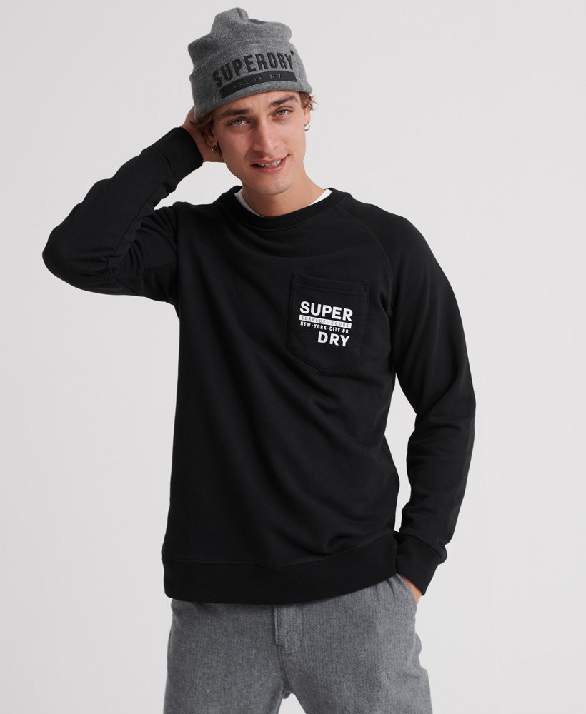 Surplus Goods Graphic Crew - Black