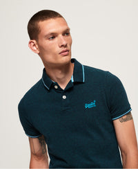 Poolside Pique Polo - Blue