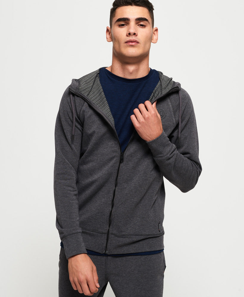 Active Flex Zip Hoodie - Dark Grey