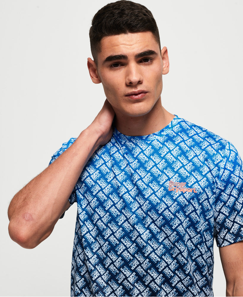 Active Ombre Fade T-shirt - Blue