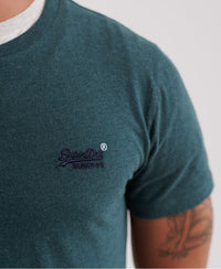 Orange Label Vintage Embroidery T-Shirt - Green